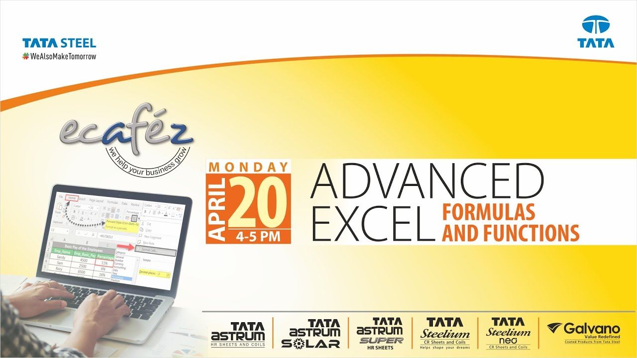 Ecafez Webinar on Advanced Excel Formulas and Functions