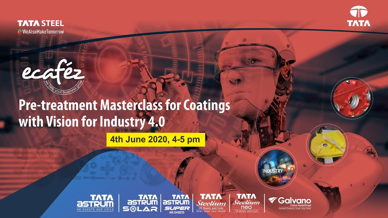Ecafez webinar on Pre-treatment Masterclass for Coatings with Vision for Industry 4.0