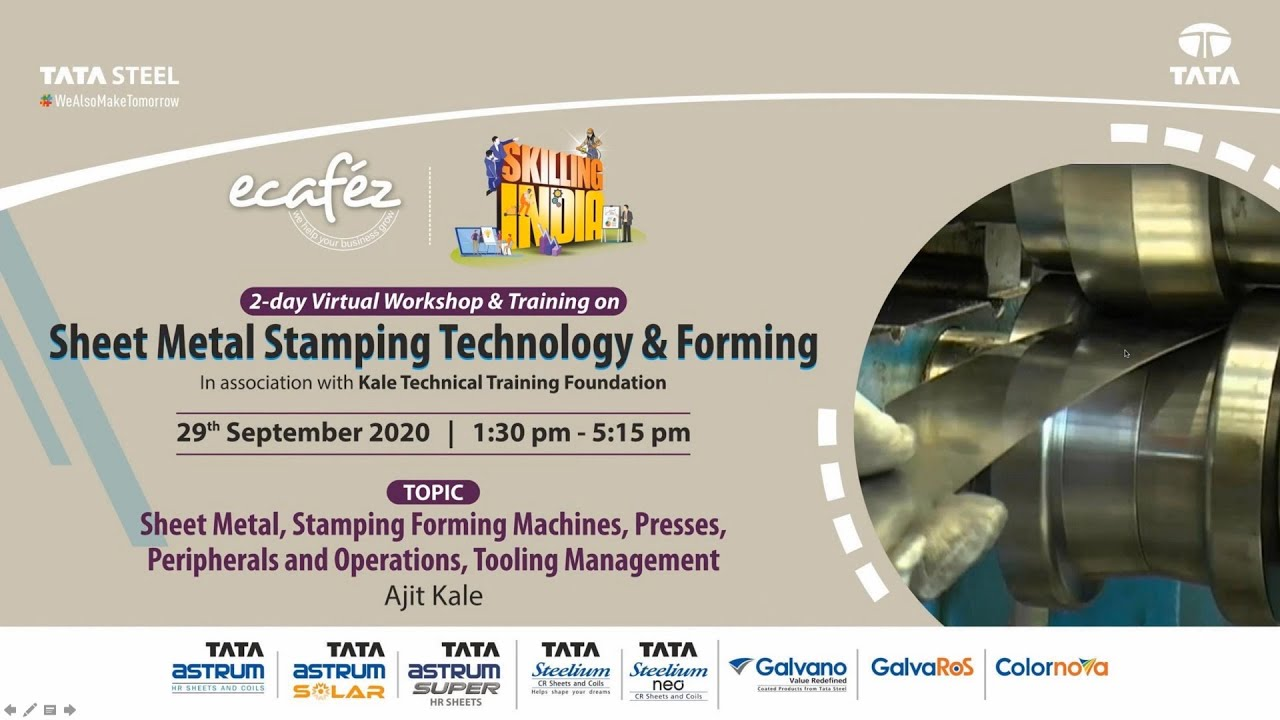Virtual 2-day Training on Sheet Metal Stamping Technology & Forming Part 2