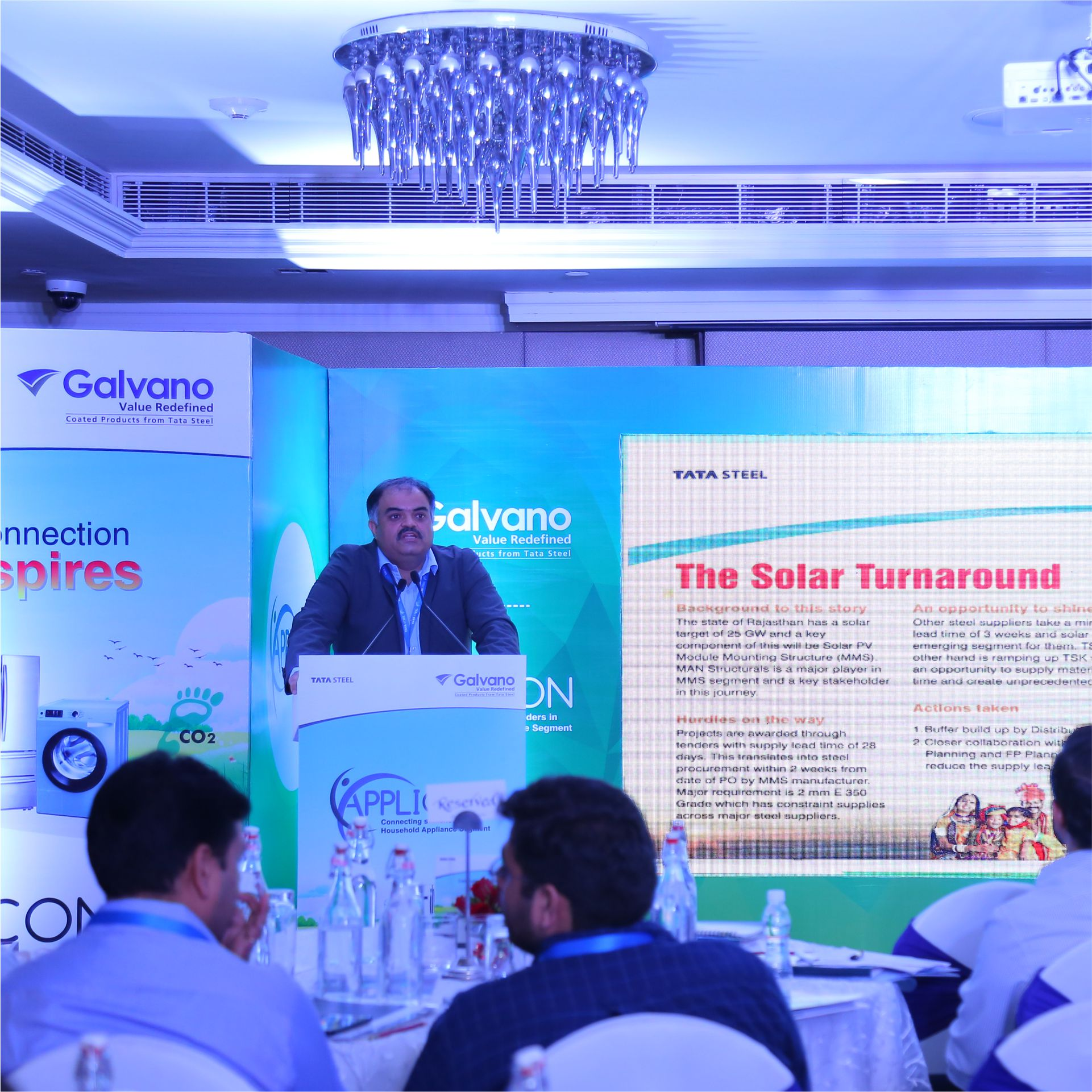Mr Sanjay S Sahni, COMS, BP&R, Tata Steel addressing stakeholders at solar segment meet